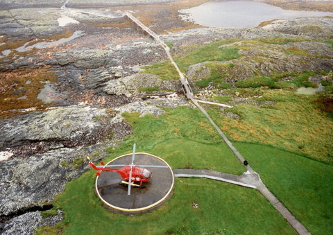 LHFS Helicopter at Hyskeir Lighthouse Jim Barton