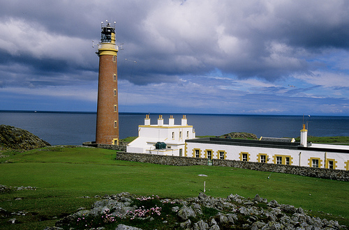 Butt of Lewis Lighthouse Buildings Photo By David May